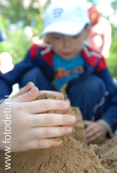 Фотографии детей песок