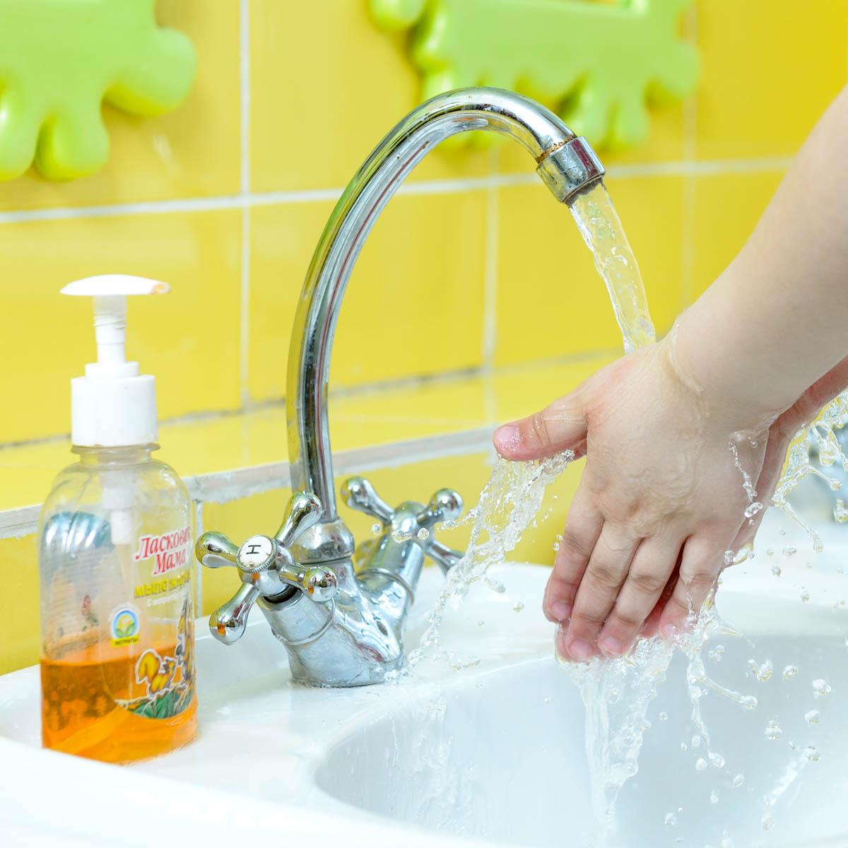 Картинка для детей мытье рук